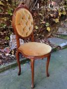 Set 2 scaune Ludovic XV tapiserie ocru