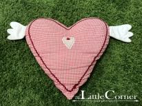 Pernă inimă cadrilată